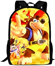 CICICCO Kid's Banjo-Kazooie Victory Sign Travel Outdoor Backpack Durable Multi-Function School Bag Purse Bookbag