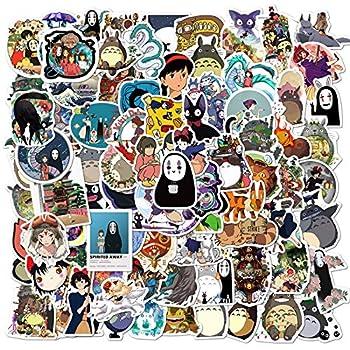 100 PCS Cartoon Japan Miyazaki Hayao Anime Waterproof Stickers Car Laptop Helmet Luggage Vintage Skateboard Wall Decor Gift for Kids  Japan Anime
