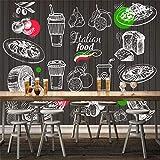 Papel Pintado Mural Jugo De Verano Leche Postre Tienda Decoración De La Pared Pintura Papel Tapiz Decoración Para El Hogar Papel Tapiz,400cmx280cm