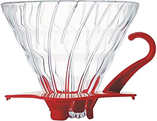 Hario V60 Glass Coffee Dripper, Size 02, Red