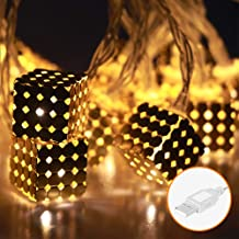 TopWan Golden String Lights LED 3M/20-Lights for Festival Christmas Halloween Party Wedding Decoration (1.7cm)