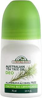 Corpore Sano Deodorant-Aluminium & Alcohol free-CERTIFIED ORGANIC-NO PARABENS-Imported from Spain-75 ml/2.5 fl. oz (Australian Tea Tree Oil)