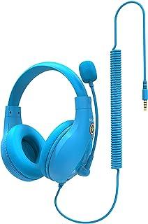 Blesiya Klassrum student barn hörlurar med mikrofon trassel-fri kabelansluten på örat bekvämt justerbart headset för skolf...