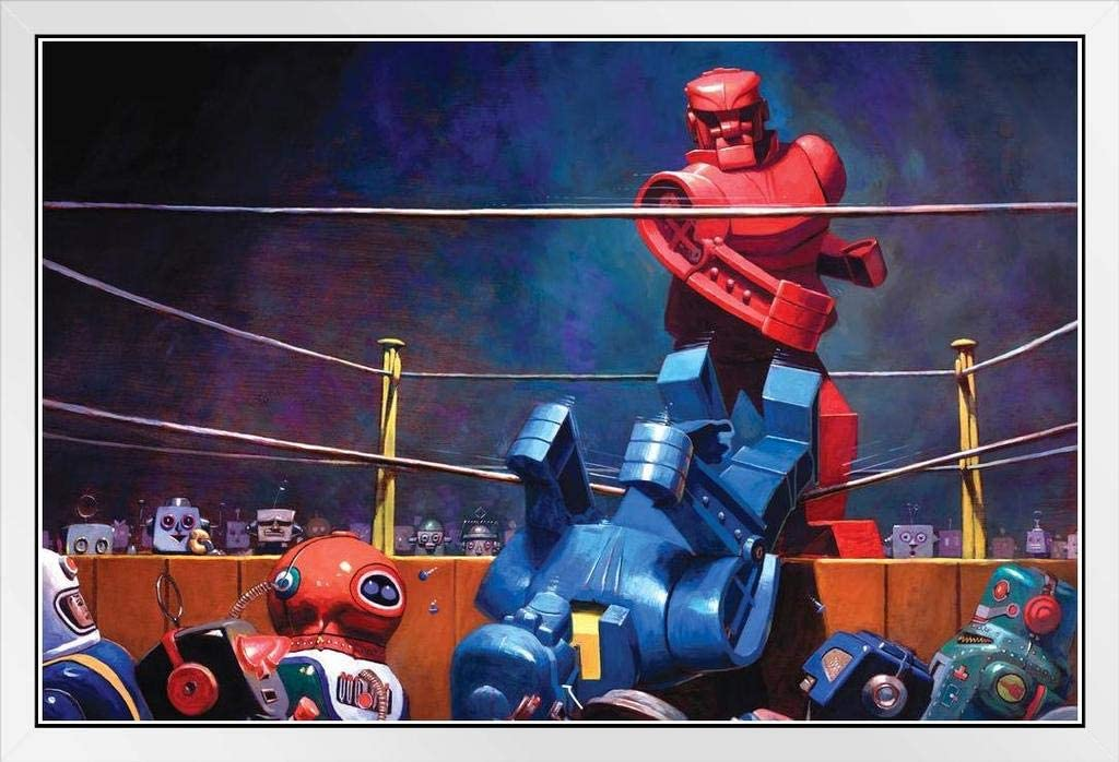 Max 63% OFF Robots Final Blow by Eric Joyner TV White Frame Famous SALENEW very popular Show Wood