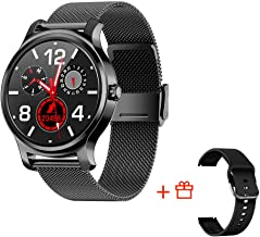 SMA-R2 Smart Watch with Blood Pressure Monitor for Men for Android Phones and iOS Build-in GPS Watch Wear Smartwatches with Heart Rate Monitor Fitness Tracker IP67 Waterproof Smartwatches (Black)