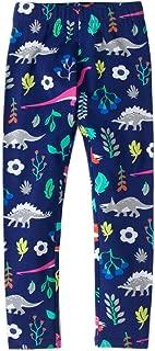 Girls white/Red Leggings Dinosaur Printed Pants Size 2-12 Years