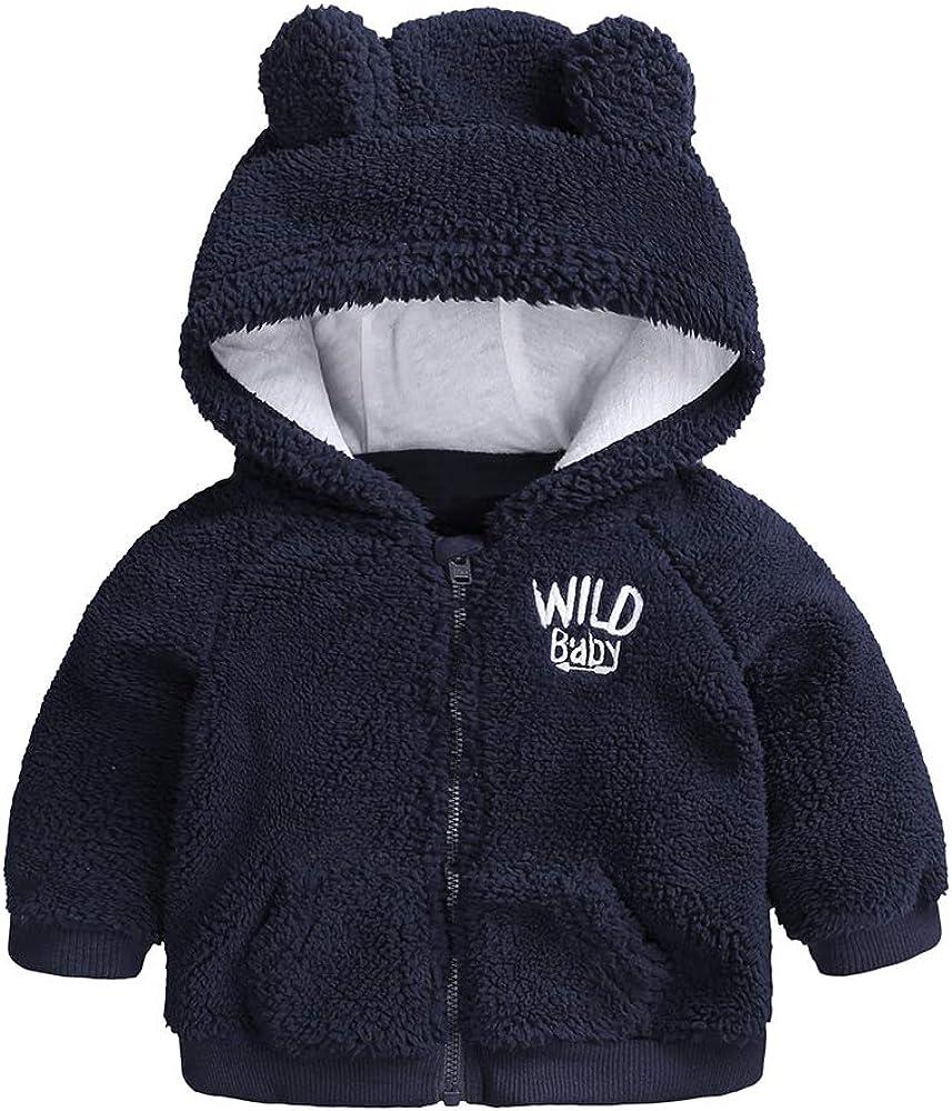 Newborn Infant Baby Boys Max 86% OFF Girls Hooded Cartoon Coat Fleece Jacket NEW before selling