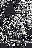 Carabanchel: Journal de Voyage   120 pages lignées   Cadeau parfait pour les amoureux de voyages   Format 15,2 x 22,9 cm   Carte Noir et Blanc   Carabanchel Espagne