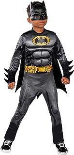 Rubie's Batman Deluxe Costume for Kids, Size 3-5, Black/Yellow