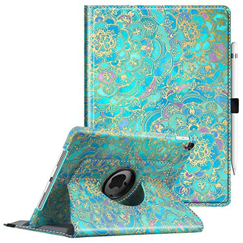 Fintie Case for iPad Pro 9.7-360 Degree Rotating Stand Protective Cover with Smart Stand Cover Auto Sleep/Wake Feature for iPad Pro 9.7 Inch (2016 Version), Shades of Blue