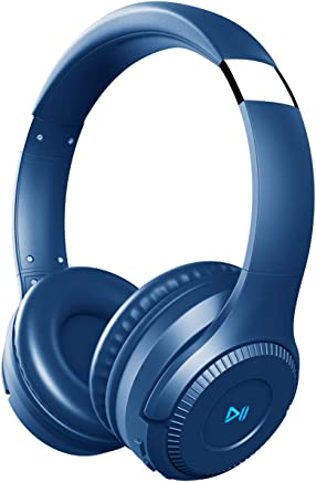 PONYBRO H2 Bluetooth Headphones Over Ear,Touch Control,50mm Drivers HiFi Stereo Wireless Headphones Noise Cancelling, Bluetooth 4.2 Headset with Mic and Wired&TF Card Mode for Cell Phones/PC/TV - Blue