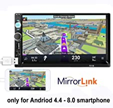 PolarLander 2 DIN 7'' Inch LCD Touch Screen Car Radio Player Support Bluetooth Hands Free 1080P Movie Rear View Camera