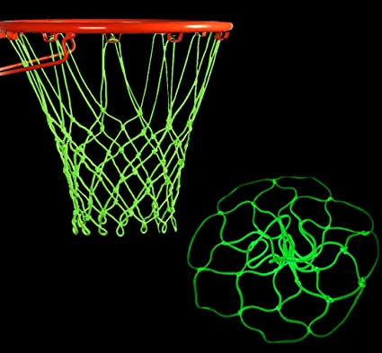 Glow in The Dark Outdoor Sun Powered Nightlight Basketball Net Luminous Basketball Net Nylon