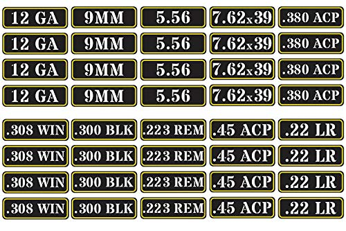 Aolamegs Ammo Can Vinyl Sticker Set Decal Label for Cans...