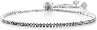 Adjustable Bolo Style Tennis Bracelet for Women Made with Swarovski Crystals