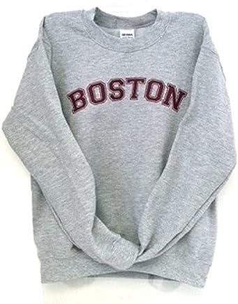 0690848f8 Dalliance Boxers Sport Gray Boston Sweatshirt with Maroon Imprint
