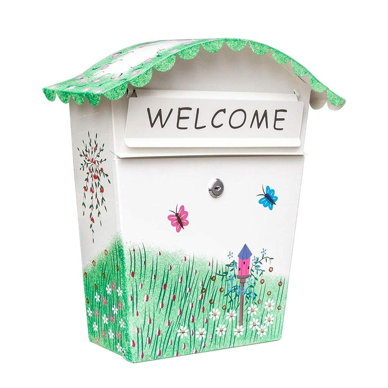 メールボックスレターボックスクリエイティブロック付き小さなメールボックス防水提案ボックスの壁を印刷することができます ZHJING