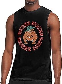Marine Corps Bulldog USMC Logo Man Handsome Sleeveless T Shirt Classical T-Shirt Fishion Helpshirt