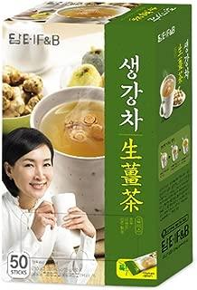 DAMTUH Korean Traditional Tea Premium Ginger Tea Plus, Ginger Powder, Herbal Supplement Healthy Ginger Tea, 50 Sticks