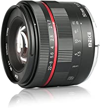 Meike MK FE 50mm F/1.7 Full Frame Large Aperture Manual Focus Lens for Sony FE E Mount Mirrorless Cameras A7RIII A7III A7RIV A7 A9 NEX 3 3N 5 NEX 5T 5R 6 7 A6400 A5000 A5100 A6000 A6100 A6300 A6500