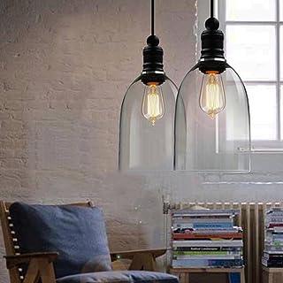 E27 Transparente Vintage Lámpara de Techo de sombra Edison Industrial Lámpara de Colgante 110-220V