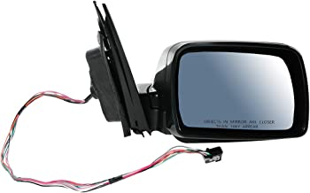 Mirror Power Heated Memory Smooth Black Passenger Side Right RH for 00-06 BMW X5
