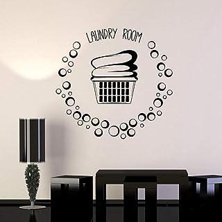 Panier De Buanderie Vêtements Bulles Vinyle Sticker Déco Décor À La Maison Art Amovible Stickers Muraux 43X45Cm