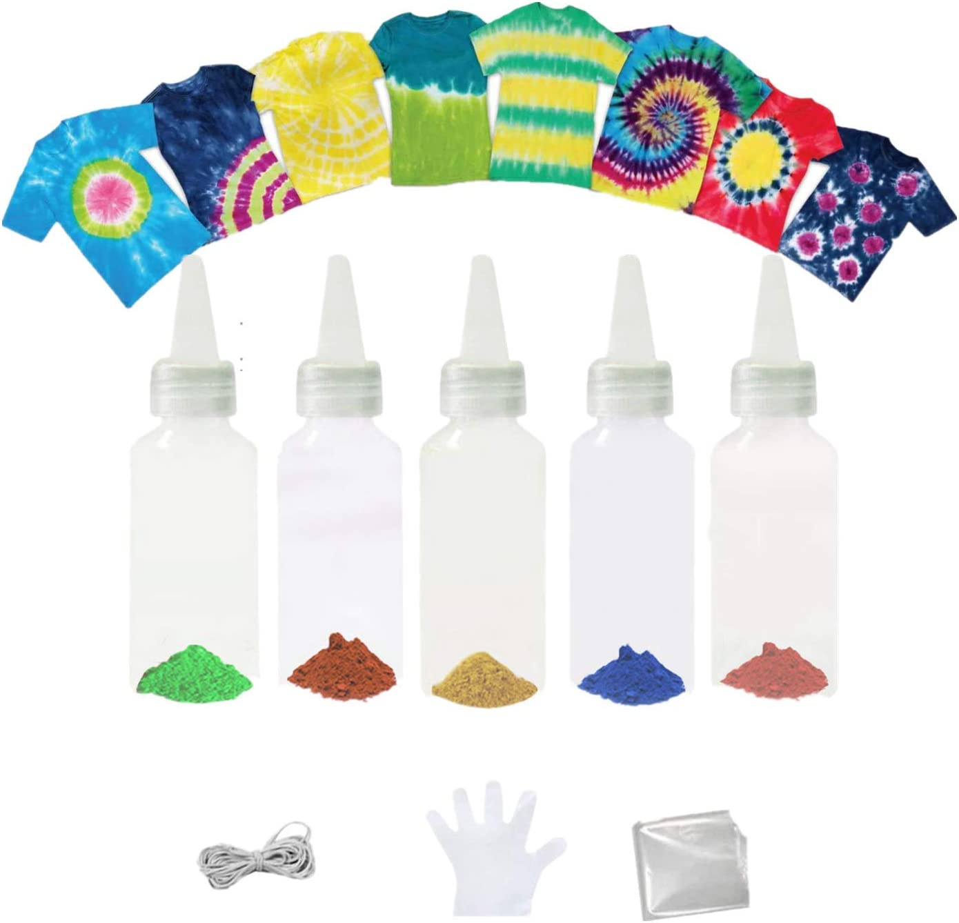Max 57% OFF Fabric Ranking TOP20 One-Step DIY Tie-Dye Kit 5 Tie Rainbo Colors Dye Fun