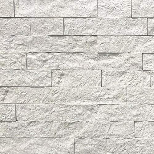 壁石 壁 擬石 壁石材 割肌 壁材 白 ウォールホワイト 乱尺サイズ 1平米入 屋内壁 屋外壁 石張り 積み石風 軽量 天然石風 タイル セメント系擬石