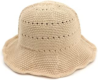 QinMei Zhou Spring and Summer New Korean Version of Cotton and Linen Sunshade Sun hat Female Folding Sun hat Simple Fashion Basin hat Fisherman hat (Color : Beige, Size : 56-58cm)