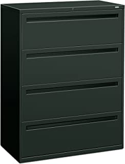 HON 794LS 700 Series 42 by 19-1/4-Inch 4-Drawer Lateral File, Charcoal