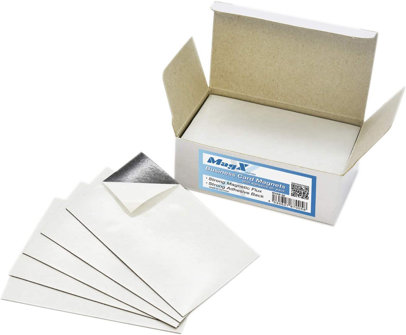 Sacramento Mall MagX Magnetic Business Card with 2x3.5 inch New Free Shipping Adhesive 50-pack M