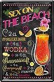 Blechschilder Sex on The Beach Cocktail Deko Alkohol Bar