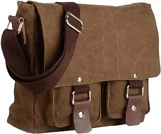 Dolity Antique Canvas Casual Shoulder Bags Casual Crossbody Satchel for Men Women