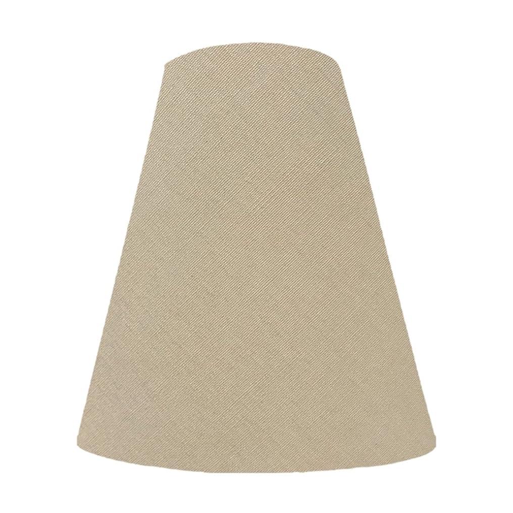 窒息させるアクセスまさにランプ?シェード(lamp-shade) キャッチ式 交換用ランプシェード 普通布(綿布) ベージュ 直径20cm K-20101 K-20101
