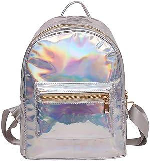 Sequin Holographic Backpack Mini Hologram School Bag Bookbag Travel Rucksak by Keaiduoa