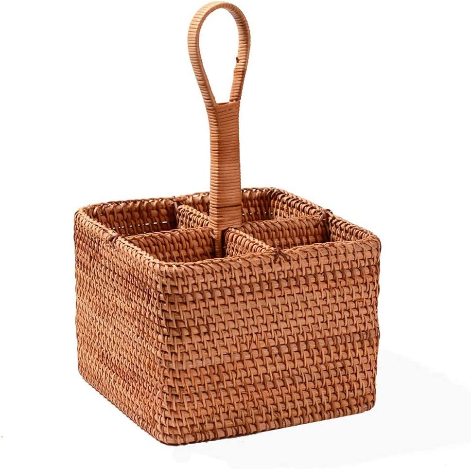 NEW before selling pot Arlington Mall Rattan Multifunctional Storage Basket Hand-Woven Table Deco