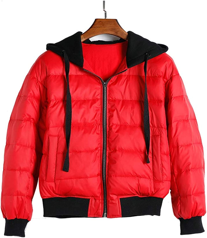 Hooded Ladies Baseball Uniform Down Jacket Women Coat