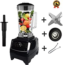 Eu/Us/Au/Uk Plug 3Hp 2200W G5200 Heavy Duty Commercial Grade Blender Mixer Juicer Food Processor Ice Smoothie Bar Fruit,Black Full Parts,Us Plug