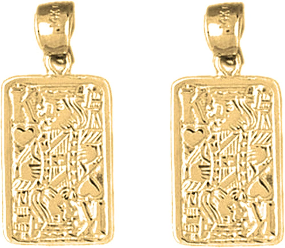 Jewels Tampa Mall Obsession Gambling Earrings 14K trust Car Yellow Playing Gold
