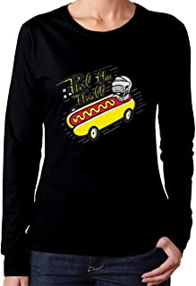 Whsduids Phil The Thrill Phil Kessel Funny Hotdog Hockey Womens Casual Slim Fit Basic Long Sleeve Fashion T-Shirt