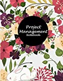 Project Management Notebook: Floral, Project and Task Organization, Project Tracker Large Print 8.5' x 11' Project To Do List, Idea Notes, Project Budget Planner Project Management Notebook