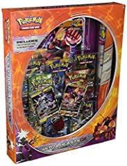 Each Pokémon TCG: Ultra Beasts GX Premium Collection includes 2 foil promo cards. You will receive, at random, either Pheromosa-GX and Celesteela-GX or Buzzwole-GX and Xurkitree-GX You will also receive a foil oversize card featuring either Pheromosa...