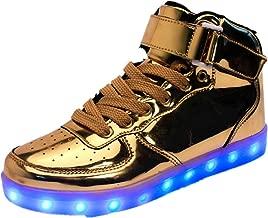 24XOmx55S99 Kid's LED USB Charging Light Up High Tops Boys Running Shoes Girls Luminous Sneakers
