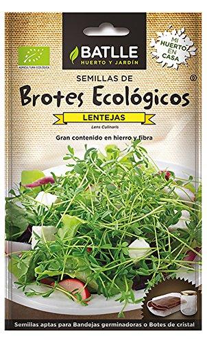 Semillas Batlle Graines à germer biologiques Lentilles
