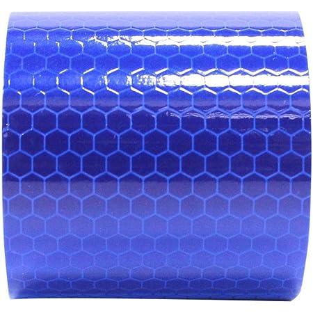 Maiqiken 1 Rolle Reflektor Streifen Blau Selbstklebende Für Auto Lkw Anhänger Sicherheit Warnung Reflektorband Tape Aufkleber 5cm X 3m Auto