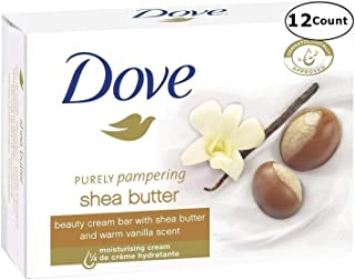Dove Purely Pampering Shea Butter Beauty Bar Soap, 3.5 Ounce / 100 Gram (Pack of 12 Bars)