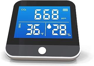 Yorten DM306C Portable CO2 Temperature Humidity Monitor Multifunctional NDIR Detector Desktop Home Household Indoor Outdoo...