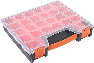 ZOOMY Caja de Herramientas Caja de Herramientas de Almacenamiento Multifuncional Transparente de Doble Lado Transparente Estuche de pl/ástico Verde