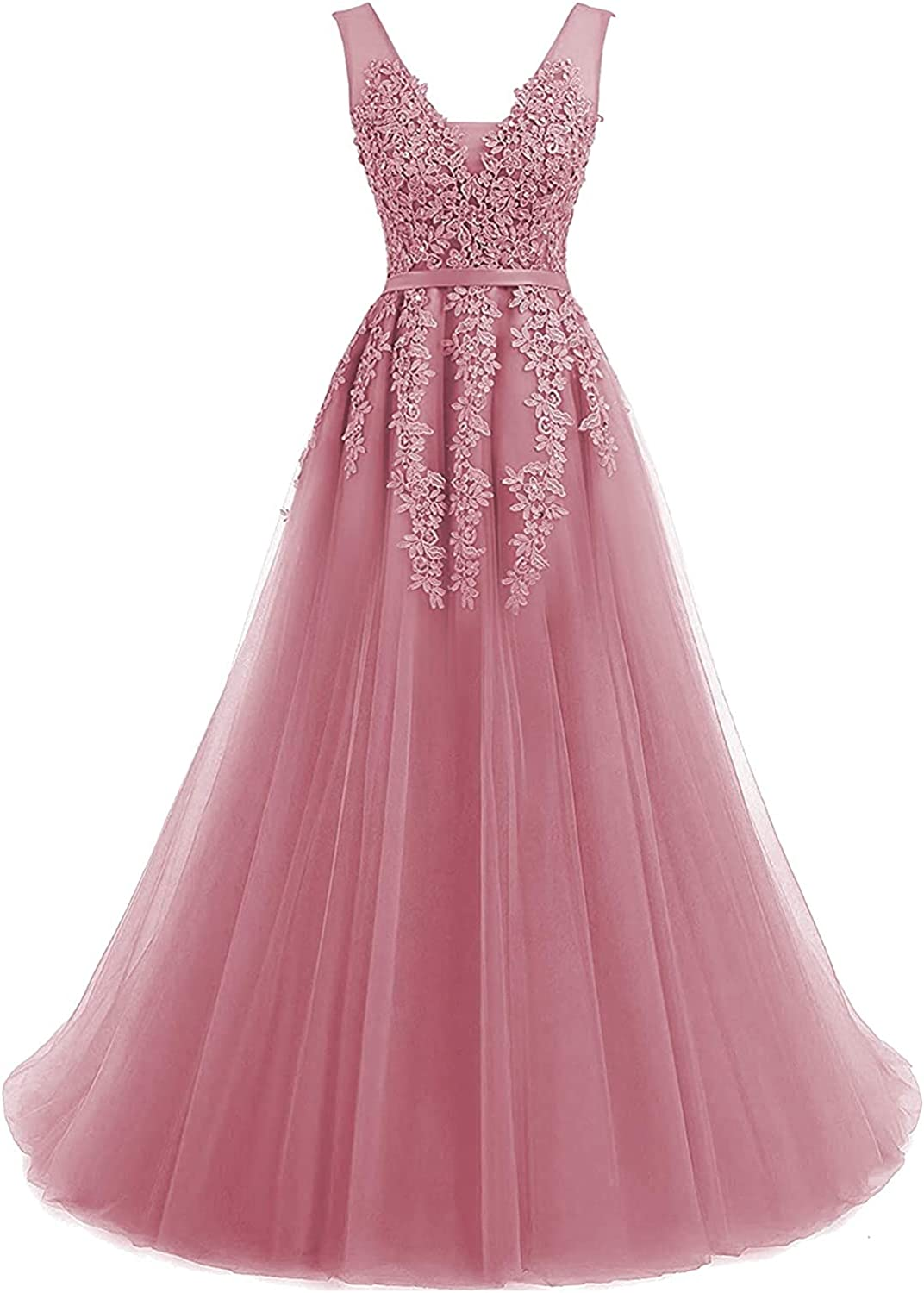Prom Dress Long Homecoming Dresses Lace Quinceanera Dress for Girls Prom Party Gown Tulle